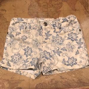 JOES JEANS girls shorts denim floral pattern 4 EUC